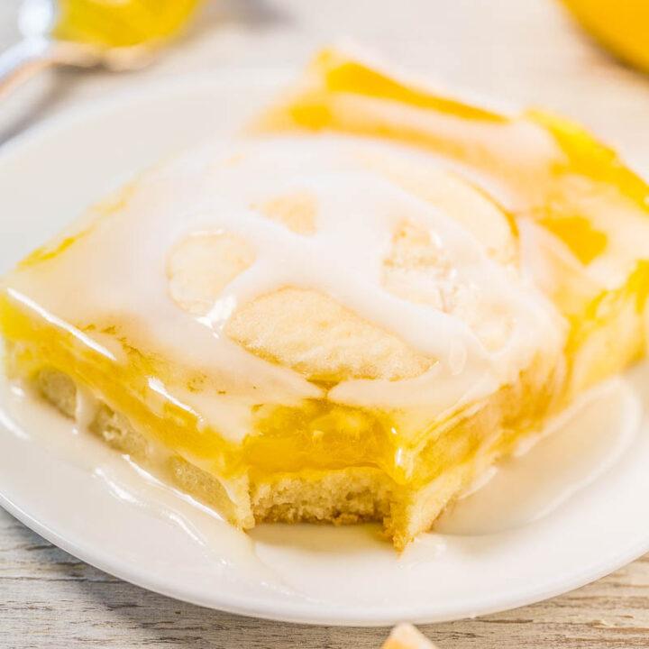 Glazed Lemon Pie Bars