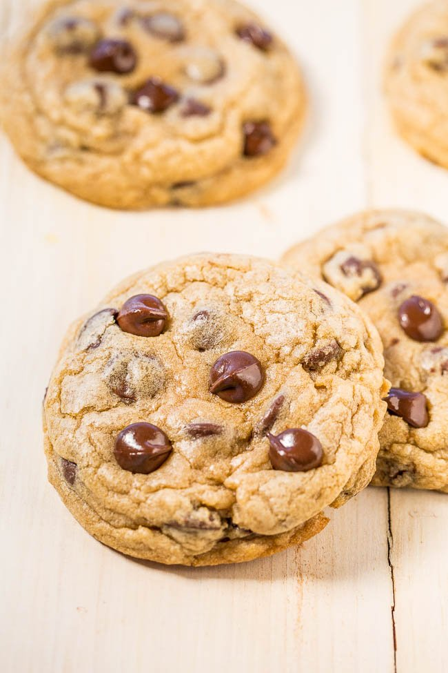 two Mrs. Fields Chocolate Chip Cookies