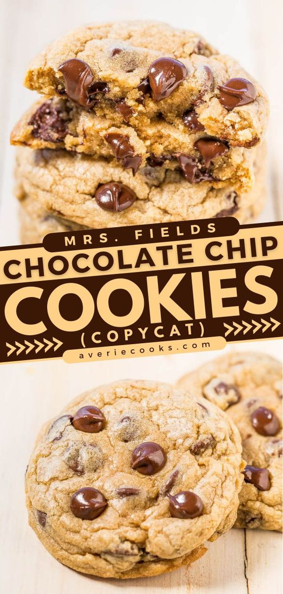 Mrs. Fields Chocolate Chip Cookie Recipe— If you've always wanted to recreate Mrs. Fields cookies at home, this recipe works beautifully. Bonus: this recipe will save you a trip to the mall!