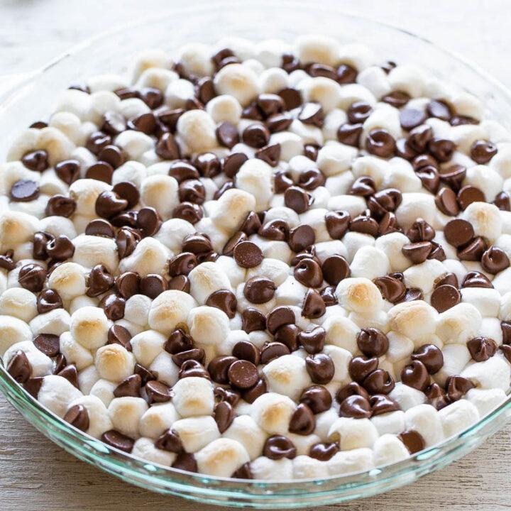 Peanut Butter Smores Cookie Pie