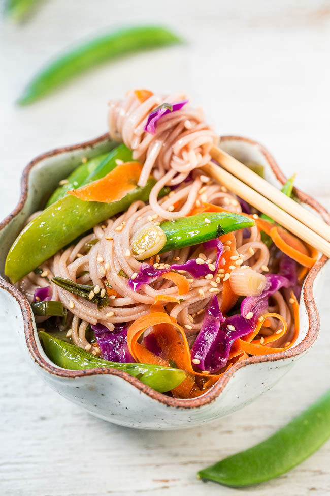15-Minute Skinny Vegetable Soba Noodles - Comforting noodles in an ...