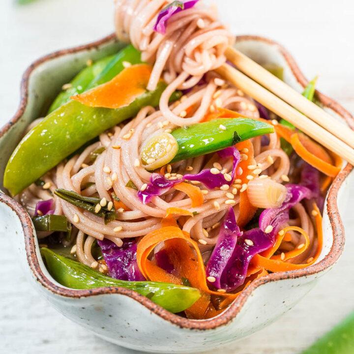15-Minute Skinny Vegetable Soba Noodles