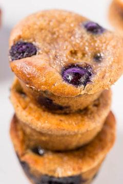 Flourless Blueberry Banana Blender Muffins