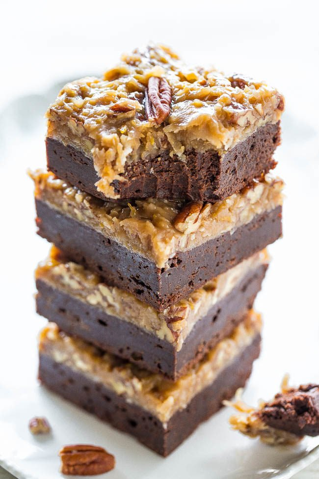 The Best German Chocolate Brownies