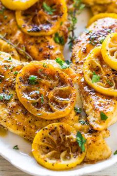 Easy Lemon Chicken with Caramelized Lemons
