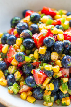Blueberry Corn Salsa