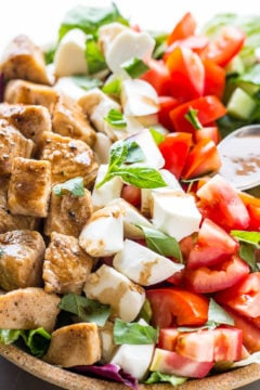 Balsamic Chicken Caprese Salad