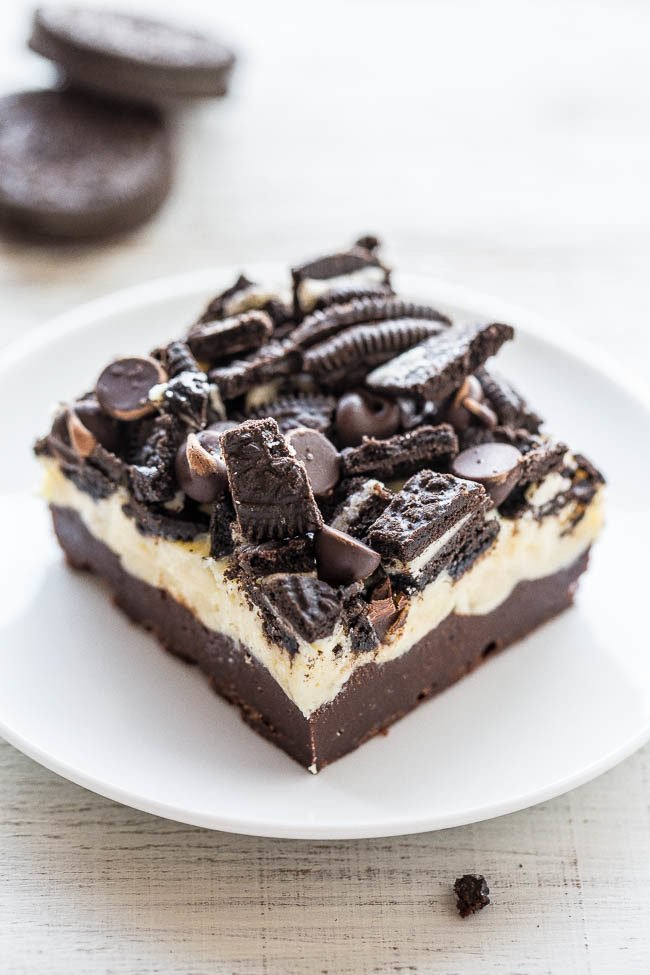 Loaded Oreo Cream Cheese Brownies