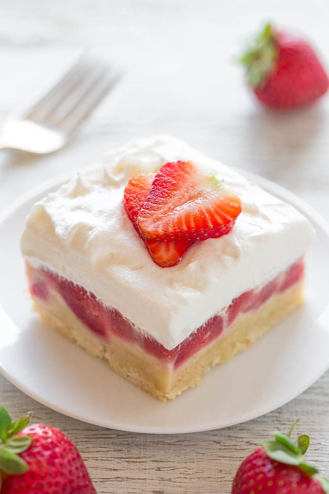 Strawberry Custard Bars