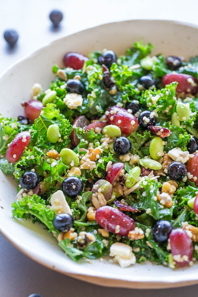 Superfood Salad in white bowl