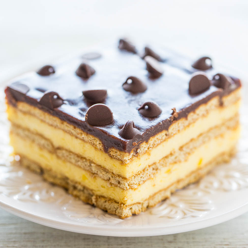 Boston Cream Icebox Cake Refrigerator Cake Recipe