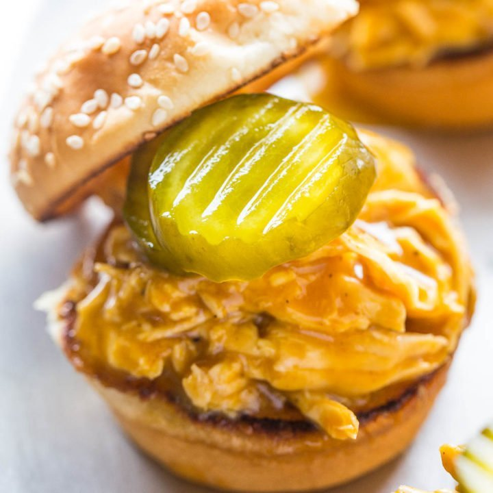 Beer and Bourbon Barbecue Chicken Sliders