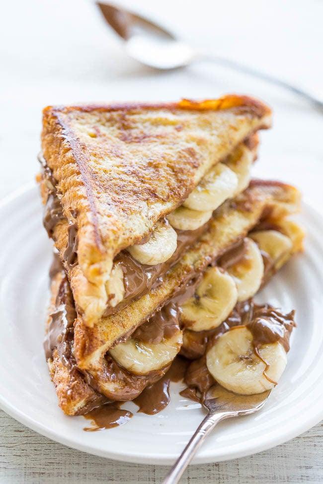 Chocolate Peanut Butter Banana-Stuffed French Toast - A decadent twist ...