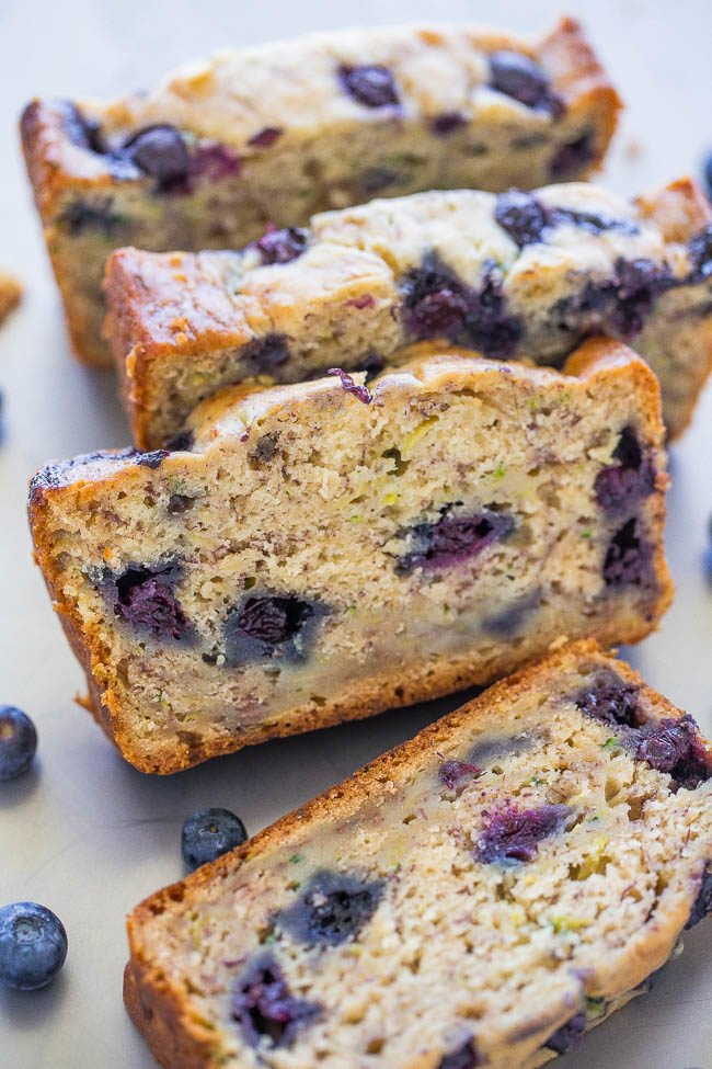 Blueberry Banana Zucchini Bread