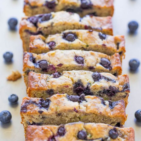 Blueberry Banana Zucchini Bread
