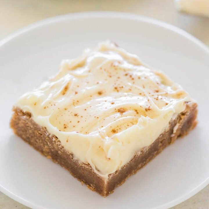 Cinnamon Roll Bars with Cream Cheese Frosting