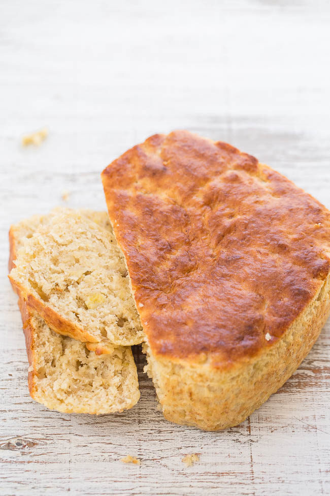 Banana Bread For Two - You'll never guess HOW this easy, no-mixer bread is baked!! It's super soft, tender, moist, and the perfect little loaf for two!!