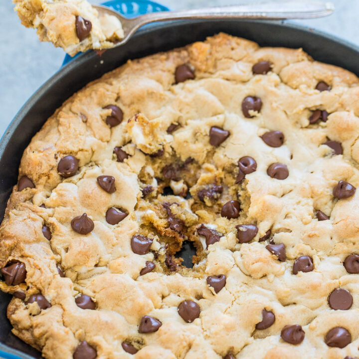 Chocolate Chip Marshmallow Skillet Cookie