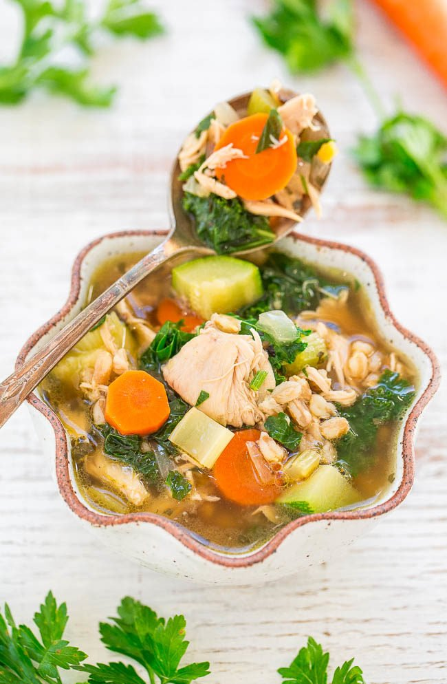 Easy 30 Minute Chicken Vegetable Soup Averie Cooks