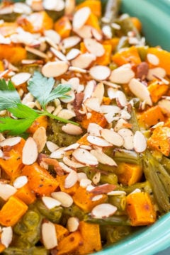 Roasted Butternut Squash Green Bean Casserole
