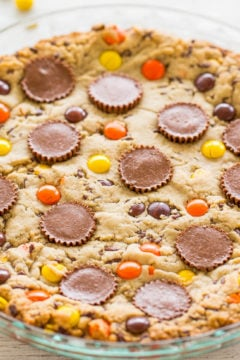 Loaded Peanut Butter Cookie Pie