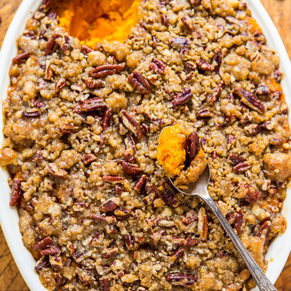 Sweet Potato Casserole with Butter Pecan Crumble Topping ...