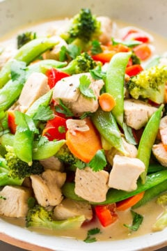 Thai Coconut Chicken Stir Fry