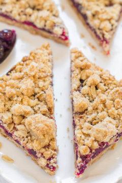 Cranberry Oatmeal Crumble Bars