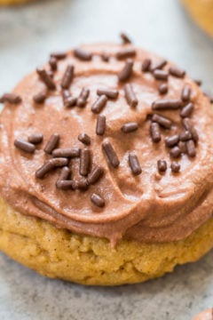 Chocolate Frosted Peanut Butter Cookies