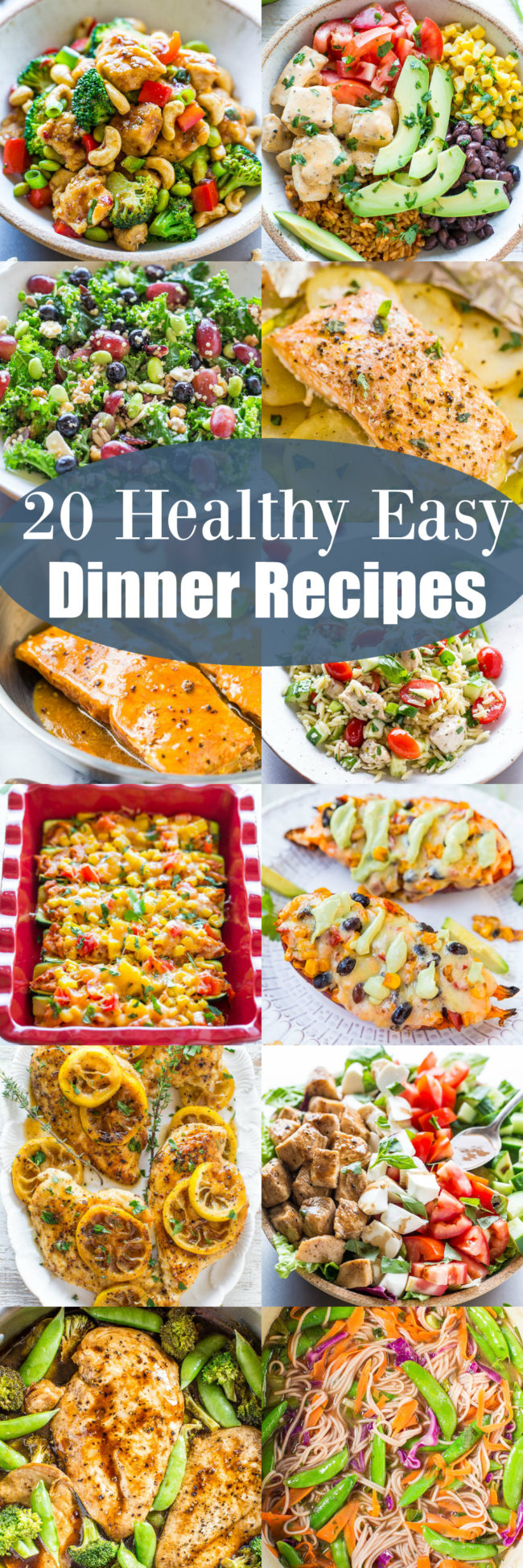 20 Healthy Easy Dinner Recipes - Looking for healthy, easy recipes that taste GREAT and everyone in the family will love? Plenty of options here that you'll want to put into your regular rotation!!