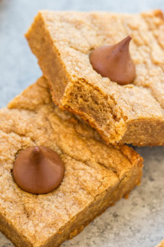 Peanut Butter Blossom Cookie Bars