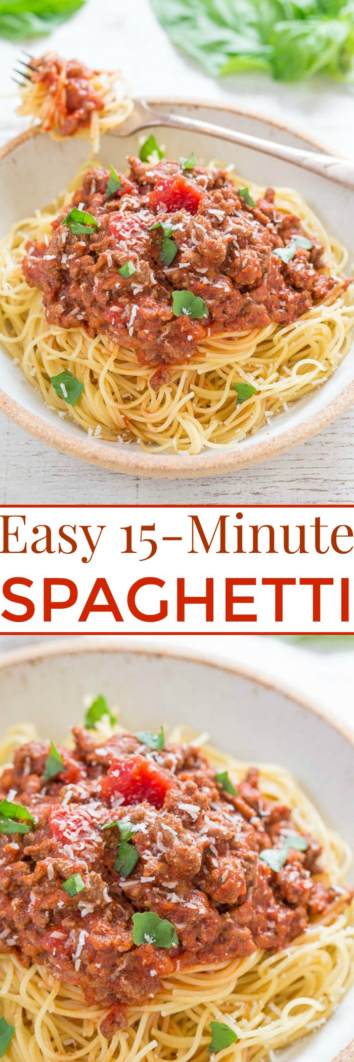 Easy 15-Minute Spaghetti - Fast, easy, full of flavor, and hearty!! Perfect for busy weeknights when you need to get dinner on the table quickly! Everyone loves spaghetti!!