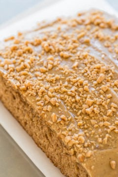 Toffee Spice Cake with Brown Sugar Caramel Frosting