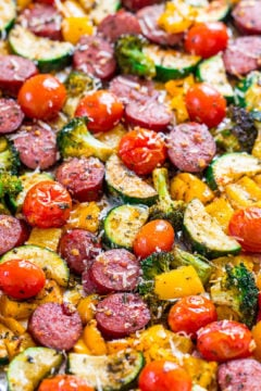 Sheet Pan Sausage and Vegetables