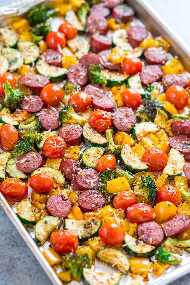 Sheet Pan Sausage Dinner with Veggies