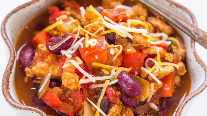 The Best Healthy Turkey Chili Recipe 30 Minutes Averie Cooks