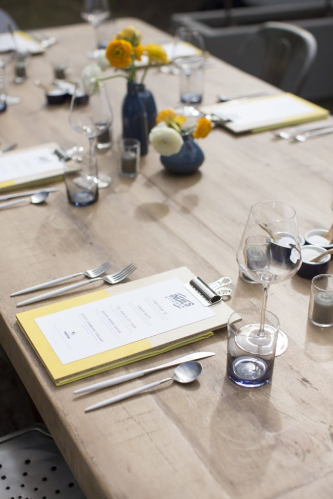 Set table for Morton's Next Door Chef