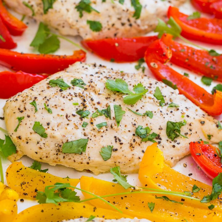 Sheet Pan Chili Lime Ranch Chicken and Peppers