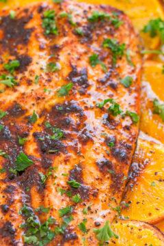 Sheet Pan Orange Chili Salmon