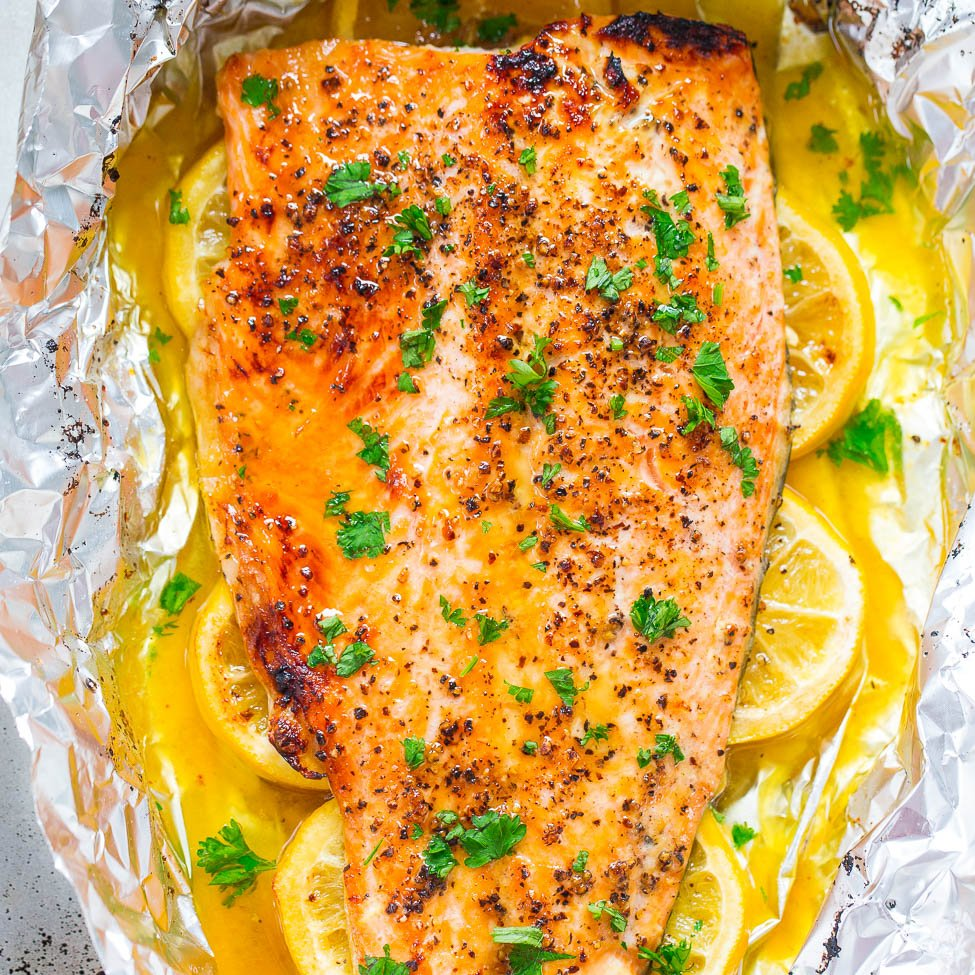 Honey Lemon Salmon Sheet Pan Salmon Recipe Averie Cooks