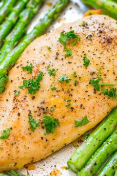Sheet Pan Honey Horseradish Chicken and Asparagus