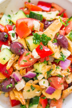 Greek Pita Chip Salad