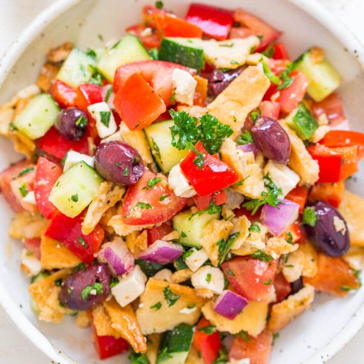 Greek Pita Chip Salad