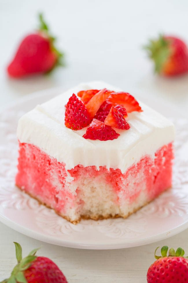 Slice of Strawberry Cream Cheese Shortbread Bars on a white plate