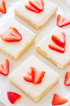 Strawberry Cream Cheese Shortbread Bars