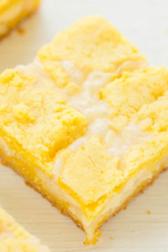 Lemon Coconut White Chocolate Gooey Bars