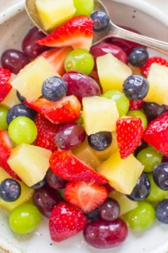 Fruit Salad Tossed in Pina Colada Mix and Pineapple Juice