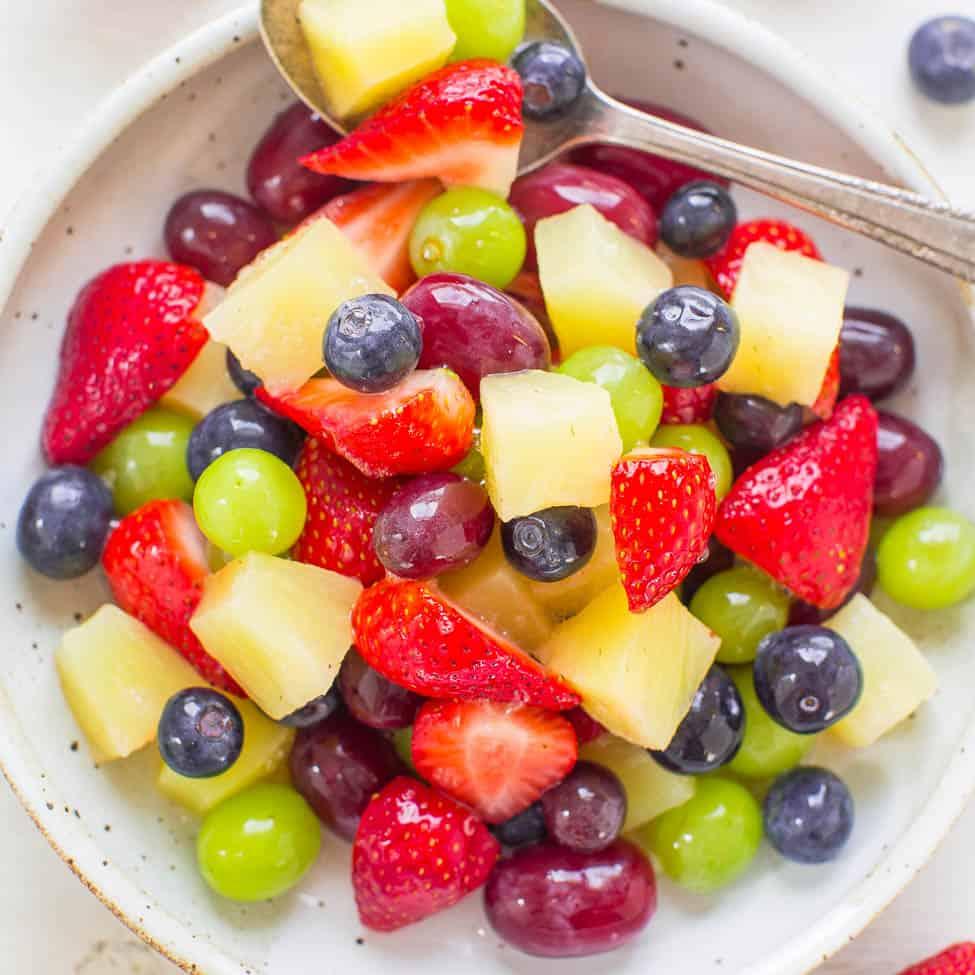 fruit salad pina colada mix pineapple juice
