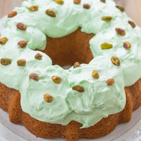 Pistachio Double Pudding Cake