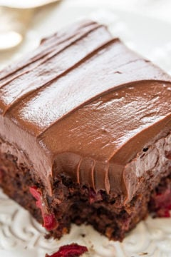 Triple Chocolate Cherry Cake